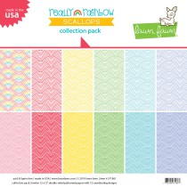 Lawn Fawn - Collection Pack 12x12 - Really Rainbow Scallops