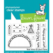 Lawn Fawn - Year Nine - Clear Stamp 2x3