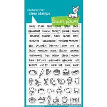 Lawn Fawn - Plan On It: Meal Planning - Clear Stamp 4x6