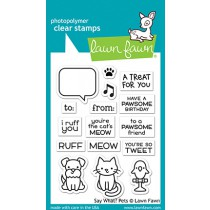 Lawn Fawn - Say What? Pets - Clear Stamp 3x4