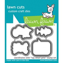 Lawn Fawn - Say What? Pets - Stanzen