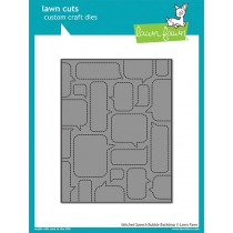 Lawn Fawn - Stitched Speech Bubble Backdrop - Stanze