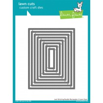 Lawn Fawn - Just Stitching Double Rectangles - Stanze