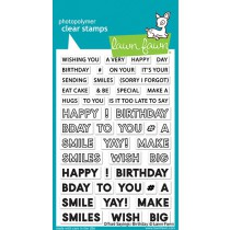 Lawn Fawn - offset sayings: birthday - Clear Stamp 4x6