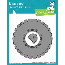 Lawn Fawn - magic iris scalloped add-on - Stanzen