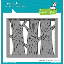 Lawn Fawn - lift the flap tree backdrop - Stanzen
