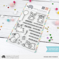Mama Elephant - Hogs and Kisses - Clear Stamp 4x6