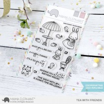 Mama Elephant - Tea with Friends - Clear Stamp 4x6