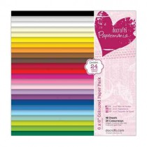 Papermania - Cardstock 6x6 - Coloured