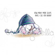 Stamping Bella - Sleepy Bunny Wobble - Cling Stamp