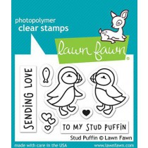 Lawn Fawn - stud puffin - Clear Stamp 2x3