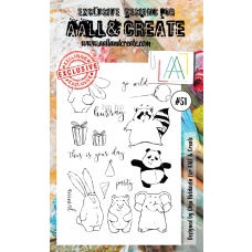 AALL and Create  A6 Stamps Party Critters 51