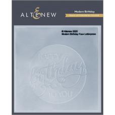 Altenew - 3D Dembossing Folder - Modern Birthday Faux Letterpress