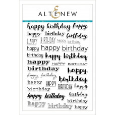 Altenew - Birthday Builder - Clear Stamp 6x8