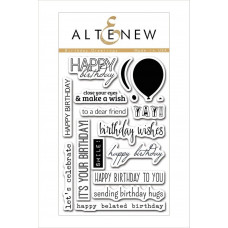 Altenew - Birthday Greetings - Clear Stamp 4x6