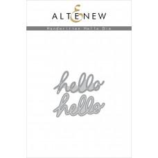 Altenew - Handwritten Hello - Stanze