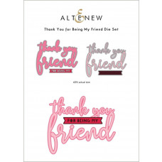 Altenew - Thank You for Being My Friend - Stand Alone Stanze