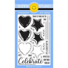Sunny Studio - Bold Balloons - Clear Stamps 4x6