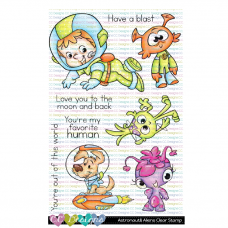 C.C. Designs - Astronaut & Aliens - Clear Stamp 4x6