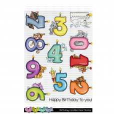 C.C. Designs - Birthday Candles - Clear Stamp 6x8