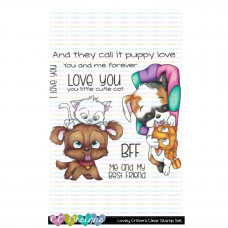 C.C. Designs - Lovey Critters - Clear Stamp 4x4