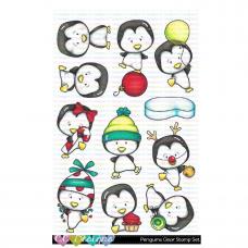 C.C. Designs - Penguins -  Clear Stamp 4x6