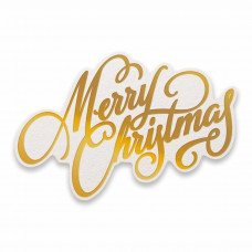 Couture Creations - Hotfoil Stamp - Merry Christmas
