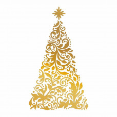 Couture Creations - Hotfoil Stamp - Ornate Christmas Tree