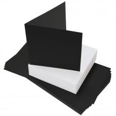 Craft UK - 40 schwarze Karten und weisse Umschläge 6x6 Inch