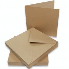 Craft UK - 50 Karten und Umschläge 6x6 Inch - Kraft