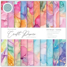 Craft Consortium - Essential Craft Papers 6x6 Inch Paper Pad - Ink Drops Candy