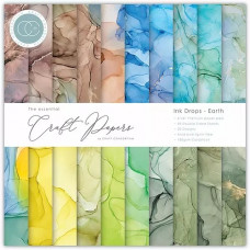 Craft Consortium - Paper Pad - Ink Drops Earth 6x6