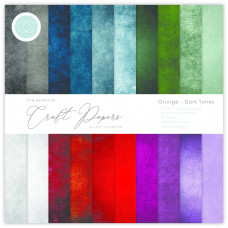 Craft Consortium - Paper Pad Grunge - Dark Tones 6x6