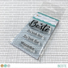 Create A Smile - Beste - Clear Stamps 2x3