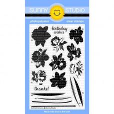 Sunny Studio - Daffodil Dreams - Clear Stamps 4x6