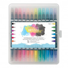 Docrafts - Artiste Permament Dual-tip pens (12Stk.) Thick & Thin