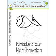 JM Creation - Einladung zur Konfirmation - Fisch - Clear Stamp