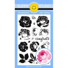 Sunny Studio - Everything's Rosy - Clear Stamps 4x6