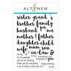 Altenew - Family Matters - Clear Stamps 6x8