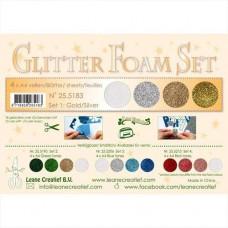 Glitter Foam set 1 silber/gold/weiss