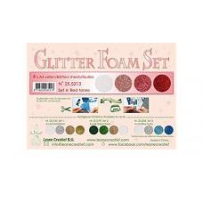 Glitter Foam Set 4 red tones