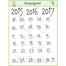 JM Creation - Kalenderzahlen - Clear Stamp