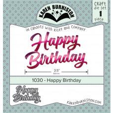 Karen Burniston - Happy Birthday Stanzen