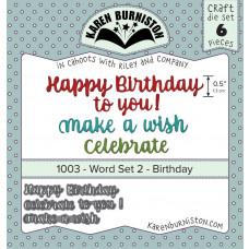 Karen Burniston - Word Set 2 Birthday Stanzen