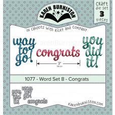 Karen Burniston - Word Set 8 - Congrats