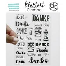 Klartext-Stempel - 23 mal Danke - Clear Stamp Set 4x6