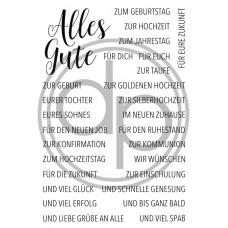 """Klartext-Stempelset A6 """"Alles Gute"""""""