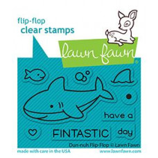 Lawn Fawn - Duh-Nuh Flip-Flop - Clear Stamps 2x3
