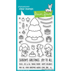 Lawn Fawn - Joy To All - Clear Stamp 4x6