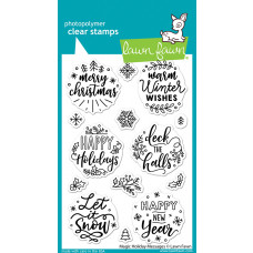 Lawn Fawn - Magic Holiday Messages - Clear Stamp Set 4x6